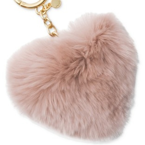 0ede51c6868 Michael Kors Light Pink Heart Pom Key   Bag Charm